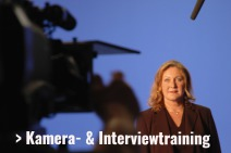 Medientraining, Kamera- und Interviewtraining
